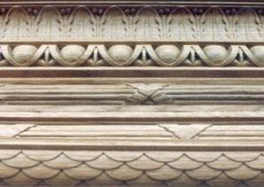 Geschnitzte Stäbe Eingangstüre Casino Bern
