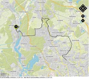 Übersichtskarte Hennigsdorf- Wilhelmsruh