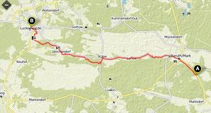 Übersichtskarte Klasdorf- Luckenwalde