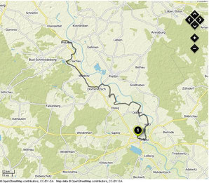 Übersichtskarte Torgau- Pretzsch (Elbe)