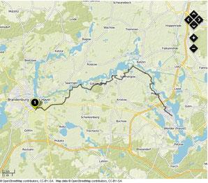 Übersichtskarte Brandenburg- Werder/Havel
