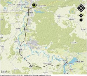Übersichtskarte Rathenow- Pritzerbe