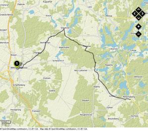 Übersichtskarte Wittstock (Dosse)- Rheinsberg