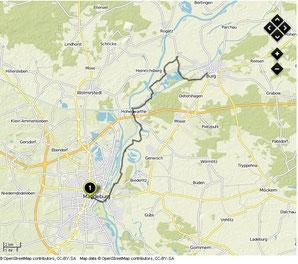Übersichtskarte Magdeburg- Burg