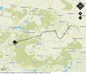 Übersichtskarte Rathenow- Paulinenaue