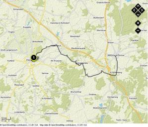 Übersichtskarte Pritzwalk- Wittstock (Dosse)