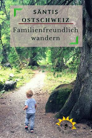 Wanderwege mit Kindern am Säntis.