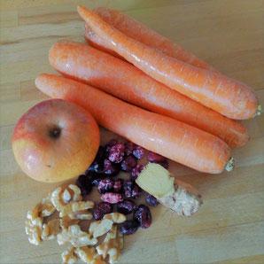 Zutaten Karottensalat
