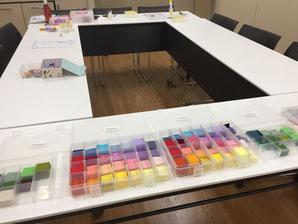 つまみ細工教室nijiiroya 教室風景
