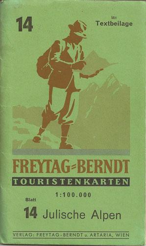 freytag & berndt Wanderkarte Julische Alpen