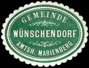 Bild: Siegelmarke Wünschendorf Erzgebirge
