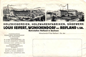 Bild: Briefkopf Seifert Wünschendorf Erzgebirge