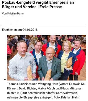 Bild: Wünschendorf Erzgebirge Ehrenpreis 2018
