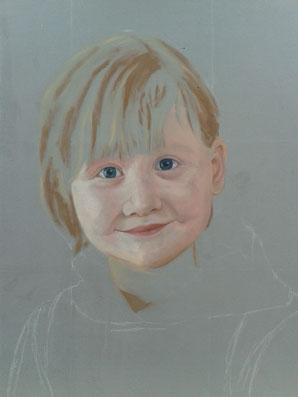 "Portrait ""Paula"" in Arbeit..."