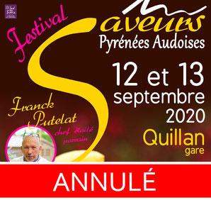 Annulation du Festival des Saveurs Pyrénées Audoises