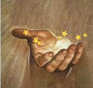 Les 7 étoiles se trouvent dans la main droite de Jésus, la main associée à l'habileté, à la force, à l'efficacité et à la précision. C'est la main droite de Jésus qui a rassuré, encouragé et fortifié l'apôtre Jean qui était tombé comme mort à ses pieds.