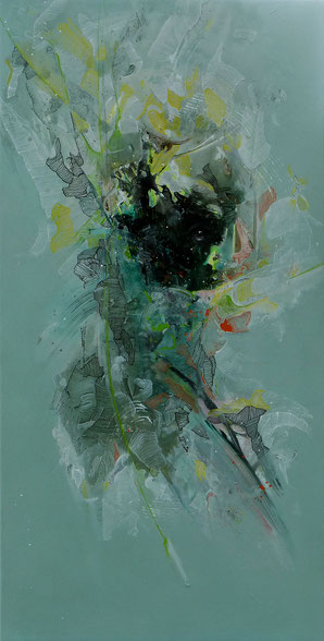 Portrait 2. Acrilyque sur toile. 100cmx50cm