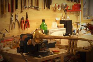 Musikhaus Schmon Blasinstrumente. Meine Werkstatt, im Ritterhaus in Flums