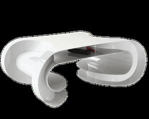 Table basse blanche Design grand luxe fabriquée en France.