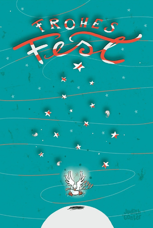 Taube Frohes Fest Weihnachtskarte Postkarte von Judith Ganter Hamburg bei Redbubble