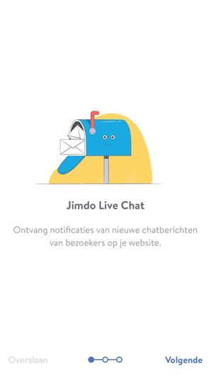 Installeer de Jimdo live chat app op je website