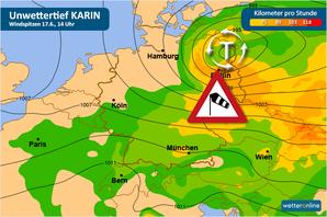 Am Freitagvormittag drohen von Sachsen bis Brandenburg Sturmböen mit bis zu 80 km/h. Bild: WetterOnline
