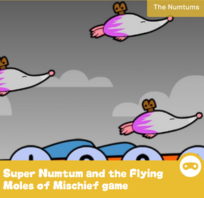 Super Numtum and the Flying Moles of Mischief game