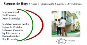 Seguros de Hogar, Casa o Apartamento & Dueño o Arrendatario