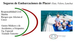 Seguros de Embarcaciones Menores de Placer, yate, velero, lancha