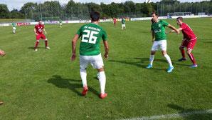 Erzielte das 1:0. Drazan Jelic mit der Nummer 26.