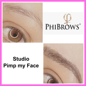Augnbrauen Phibrows Microblading - Diamant Nano Blading - Permanent Make Up Norderstedt - Studio Pimp my Face - Stefanie Lopez  - Härchentechnik - Eyebrows - Härchenzeichnung