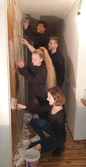Renovierung des Jugendraums