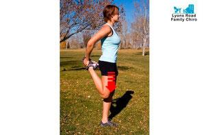 Back pain leg stretch