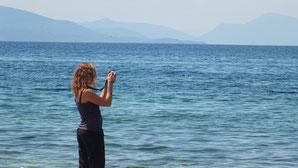 Tai Chi Urlaub, Qi Gong Ferien, Entspannen und Erholen am Meer in Griechenland, Karina Berg