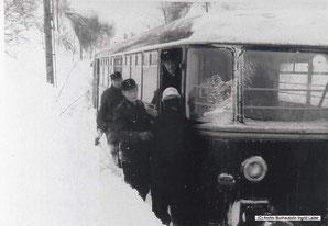 1969/70 Eingeschneit in Clausthal-Zellerfeld