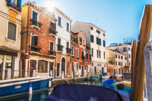 Venedig Dorsoduro Kanal Sommertag Sonne