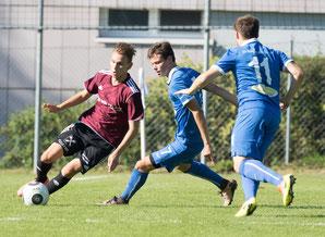 Semih Dönmez setzte beim Spiel gegen Lochau in der Offensive einige Akzente. © Florian Hepberger