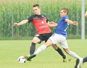 Gegen den FC Schlins konnte ein am Ende klarer 5:2-Sieg bejubelt werden. © Florian Hepberger