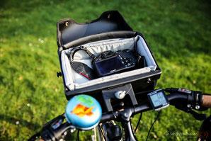 Fahrradlenkertasche mit Kameraeinsatz