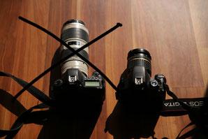 Kameraausrüstung für den Elberadweg