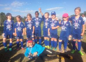 Die F-Juniorinnen des VfL Oldesloe - ein starkes Team