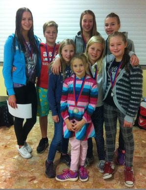 Die BSC-Aktiven konnten sechs Medaillen beim Herbstschwimmfest in Achim gewinnen.