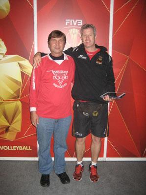 Bundestrainer Vital Heynen (rechts) und Manfred Wille