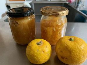 まずは手作り柚子ピューレから。