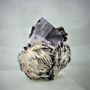 Fluorite with Barite Taourirt Morocco Africa