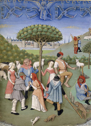 Miniature de Robinet Testard, extraite du Livre d'Heures de Charles d'Angoulême BnF lat. 1173, fol. 20v.