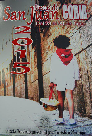 Cartel y programa de las Fiestas de San Juan 2015 en Coria