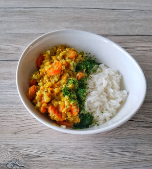 Veganes Gemüse-Linsen-Curry