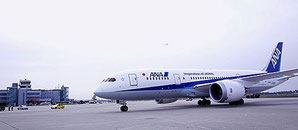 ANA operates Boeing 787-8s on the daily served route Tokyo-Dusseldorf  /  source: DUS