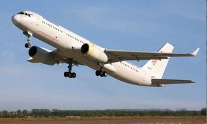 U.S. suppliers contributed key components to Tupolev's Tu-204SM  /  source: Tupolev
